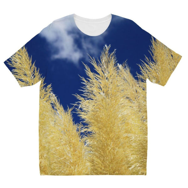 Bushes With Sky Background Kids Sublimation T-Shirt 3-4 Years Apparel