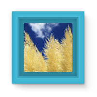 Bushes With Sky Background Magnet Frame Light Blue Homeware