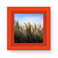 Bushes With Sky Background Magnet Frame Red Homeware