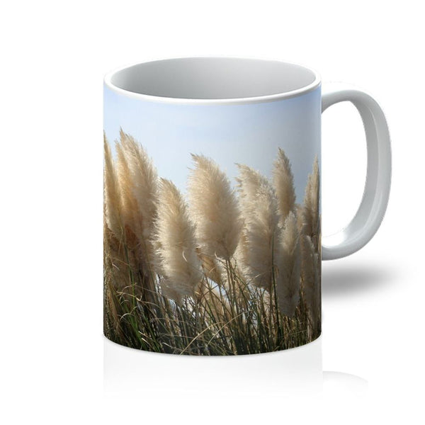 Bushes With Sky Background Mug 11Oz Homeware