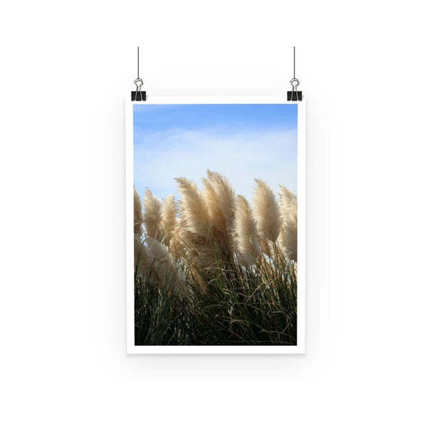 Bushes With Sky Background Poster A3 Wall Decor