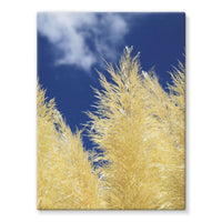 Bushes With Sky Background Stretched Eco-Canvas 18X24 Wall Decor