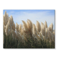 Bushes With Sky Background Stretched Eco-Canvas 24X18 Wall Decor