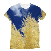 Bushes With Sky Background Sublimation T-Shirt S Apparel
