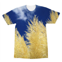 Bushes With Sky Background Sublimation T-Shirt Xs Apparel