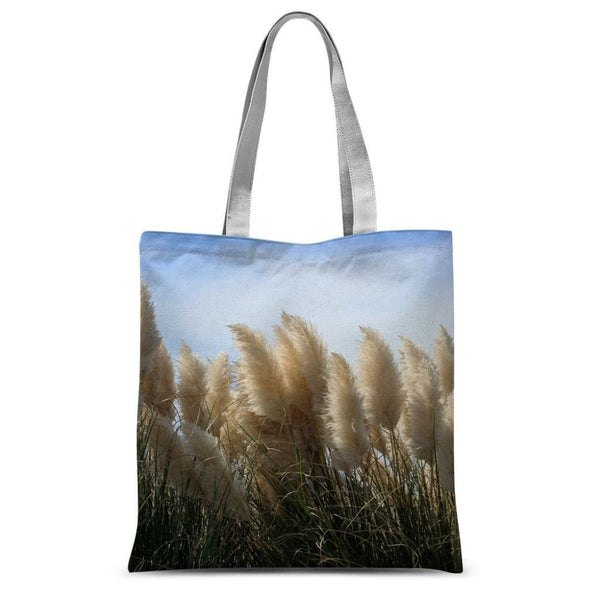 Bushes With Sky Background Sublimation Tote Bag 15X16.5 Accessories