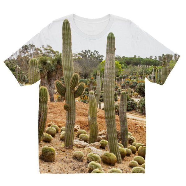 Cactus Plants Kids Sublimation T-Shirt 3-4 Years Apparel