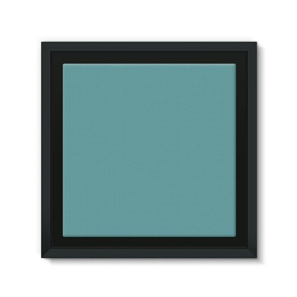 Cadet Blue Color Framed Canvas 12X12 Wall Decor