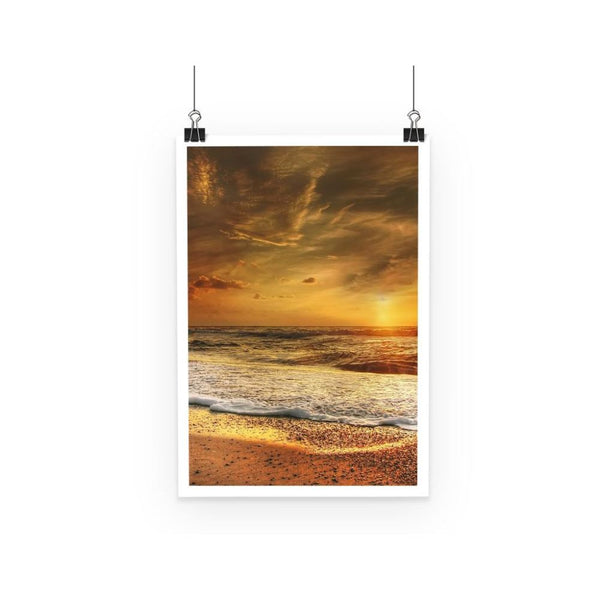 California Summer Beach Poster A3 Wall Decor