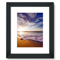 California Usa Sandy Coast Framed Fine Art Print 12X16 / Black Wall Decor