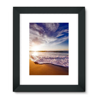 California Usa Sandy Coast Framed Fine Art Print 18X24 / Black Wall Decor