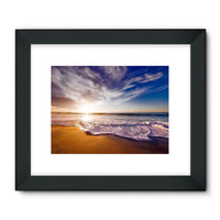 California Usa Sandy Coast Framed Fine Art Print 24X18 / Black Wall Decor