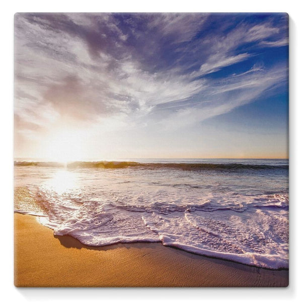 California Usa Sandy Coast Stretched Canvas 10X10 Wall Decor