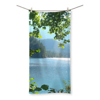 Calm Water Lake In Forests Beach Towel 27.5X55.0 Homeware