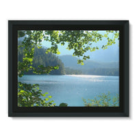 Calm Water Lake In Forests Framed Canvas 16X12 Wall Decor
