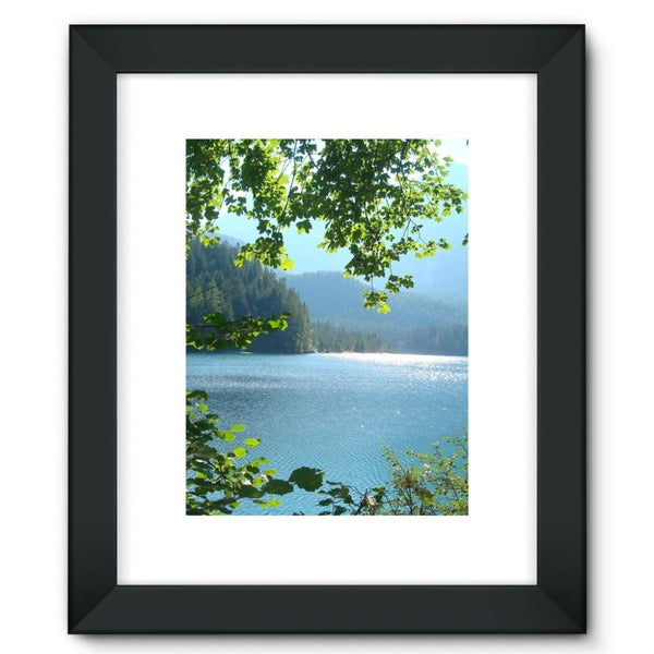 Calm Water Lake In Forests Framed Fine Art Print 12X16 / Black Wall Decor