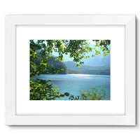 Calm Water Lake In Forests Framed Fine Art Print 16X12 / White Wall Decor