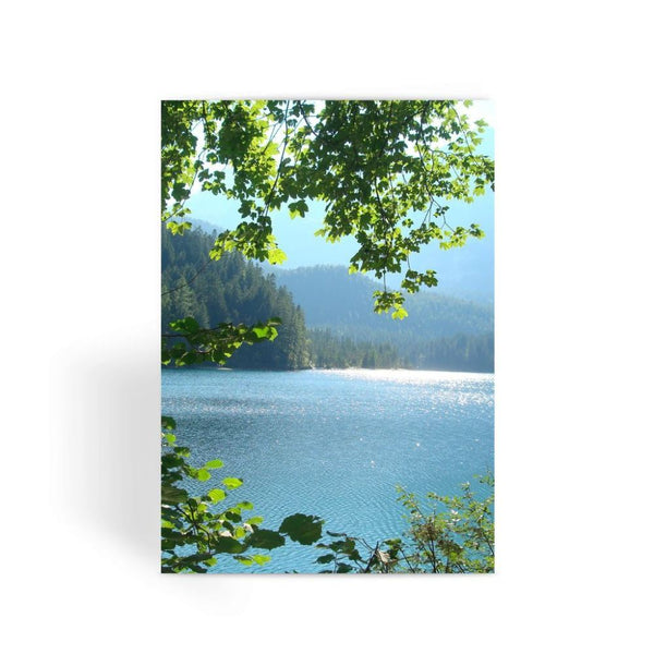 Calm Water Lake In Forests Greeting Card 1 Prints