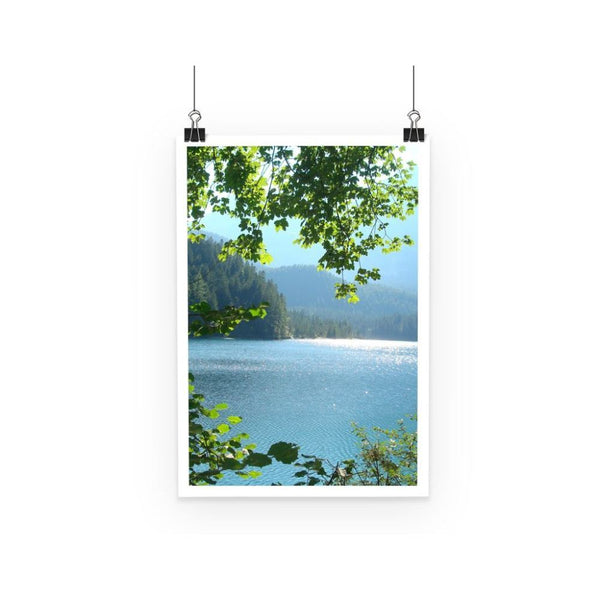 Calm Water Lake In Forests Poster A3 Wall Decor