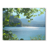 Calm Water Lake In Forests Stretched Canvas 16X12 Wall Decor