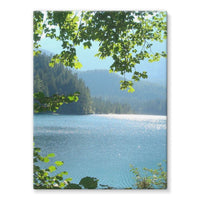 Calm Water Lake In Forests Stretched Canvas 18X24 Wall Decor