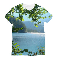 Calm Water Lake In Forests Sublimation T-Shirt S Apparel