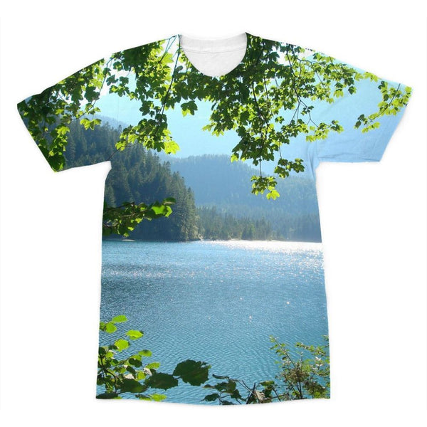 Calm Water Lake In Forests Sublimation T-Shirt Xs Apparel