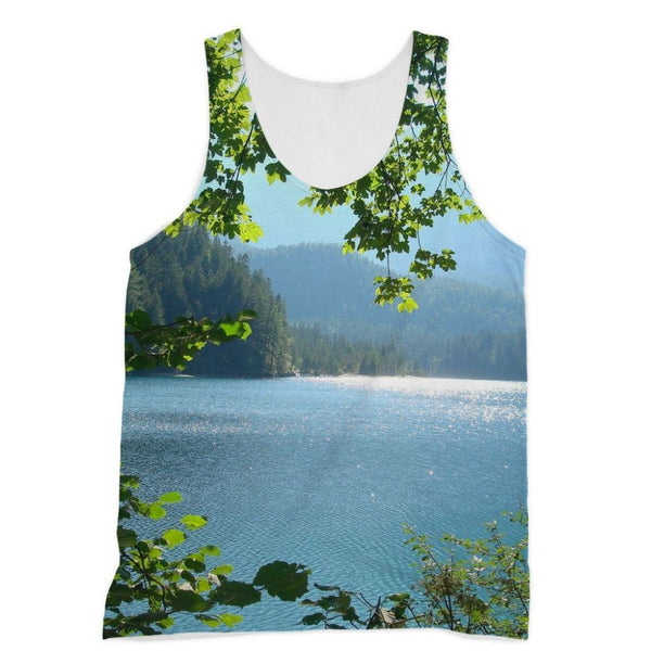 Calm Water Lake In Forests Sublimation Vest Xs Apparel