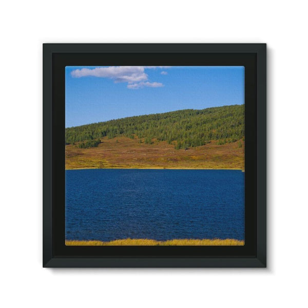 Calm Water Pond Framed Canvas 12X12 Wall Decor