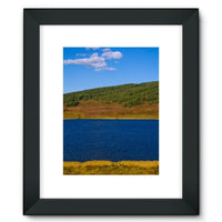 Calm Water Pond Framed Fine Art Print 12X16 / Black Wall Decor