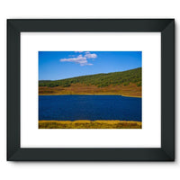 Calm Water Pond Framed Fine Art Print 16X12 / Black Wall Decor