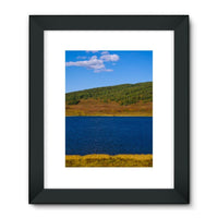 Calm Water Pond Framed Fine Art Print 24X32 / Black Wall Decor