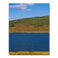 Calm Water Pond Stretched Eco-Canvas 11X14 Wall Decor