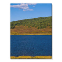 Calm Water Pond Stretched Eco-Canvas 18X24 Wall Decor
