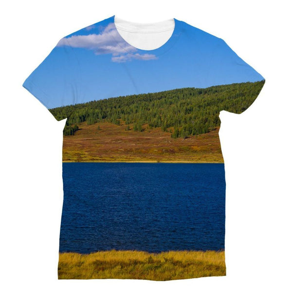 Calm Water Pond Sublimation T-Shirt S Apparel