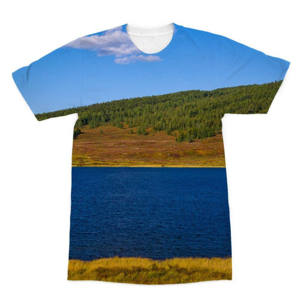 Calm Water Pond Sublimation T-Shirt Xs Apparel