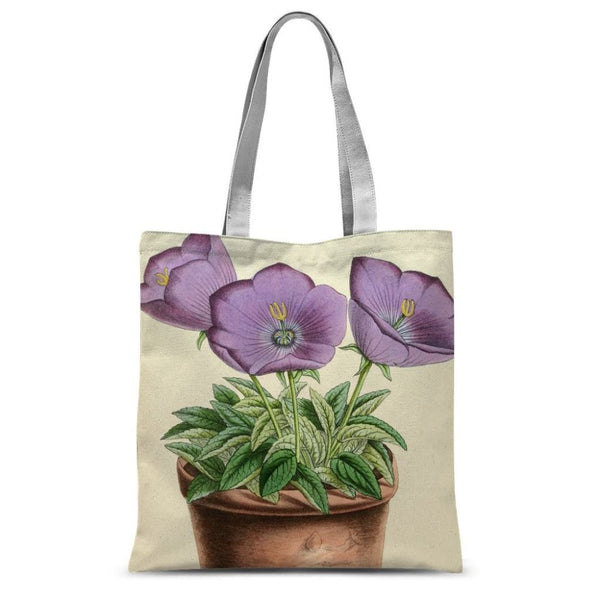 Campanula Turbinata 1869 Sublimation Tote Bag 15X16.5 Accessories