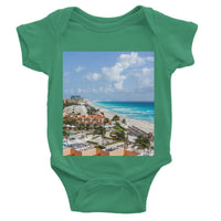 Cancun City On Beachside Baby Bodysuit 0-3 Months / Kelly Green Apparel