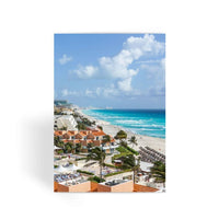 Cancun City On Beachside Greeting Card 1 Prints