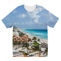 Cancun City On Beachside Kids Sublimation T-Shirt 3-4 Years Apparel