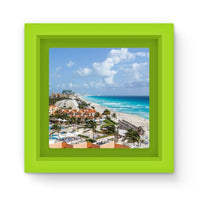 Cancun City On Beachside Magnet Frame Green Homeware