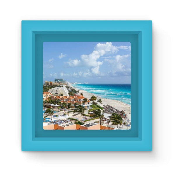 Cancun City On Beachside Magnet Frame Light Blue Homeware