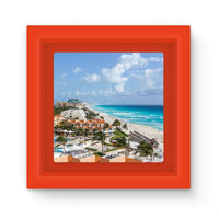 Cancun City On Beachside Magnet Frame Red Homeware
