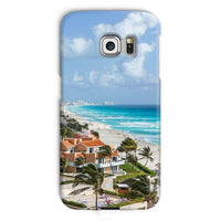 Cancun City On Beachside Phone Case Galaxy S6 Edge / Snap Gloss & Tablet Cases