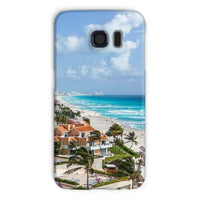 Cancun City On Beachside Phone Case Galaxy S6 / Snap Gloss & Tablet Cases