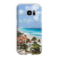 Cancun City On Beachside Phone Case Galaxy S7 Edge / Snap Gloss & Tablet Cases