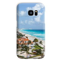 Cancun City On Beachside Phone Case Galaxy S7 / Snap Gloss & Tablet Cases