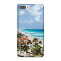 Cancun City On Beachside Phone Case Iphone 8 Plus / Snap Gloss & Tablet Cases