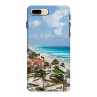Cancun City On Beachside Phone Case Iphone 8 Plus / Tough Gloss & Tablet Cases
