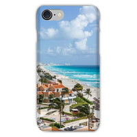 Cancun City On Beachside Phone Case Iphone 8 / Snap Gloss & Tablet Cases